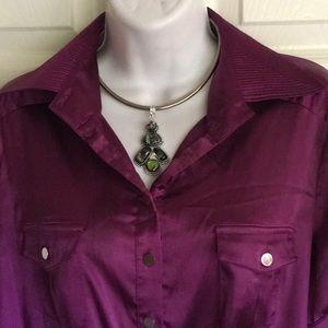 bebe...plum color blouse